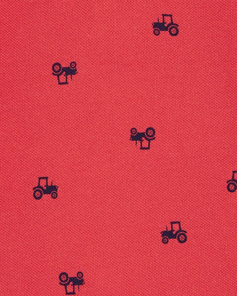 Truck Cotton Romper, , hi-res