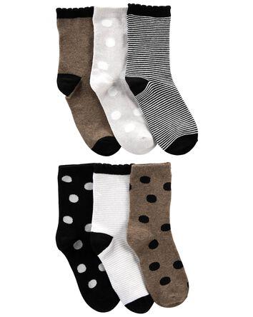 6 paires de chaussettes rayées