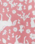 1-Piece Unicorn Fleece Footie PJs, , hi-res