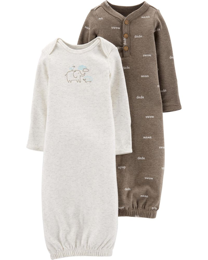 2-Pack Little Peanut Sleeper Gowns, , hi-res