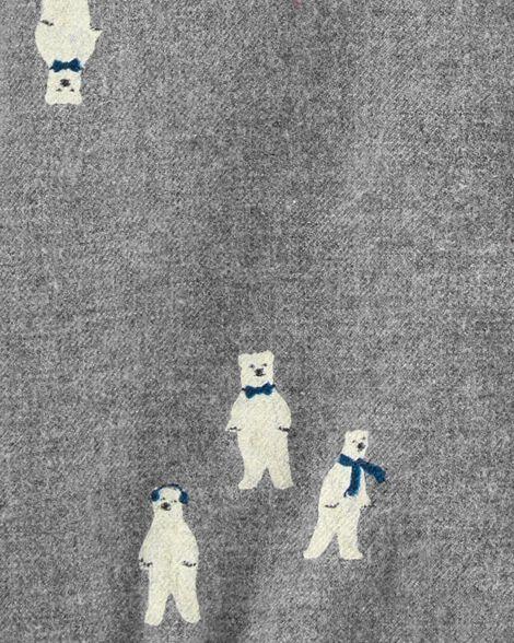 Polar Bear Button-Front Bodysuit