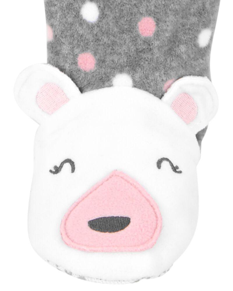 1-Piece Polka Dot Fleece Footie PJs, , hi-res