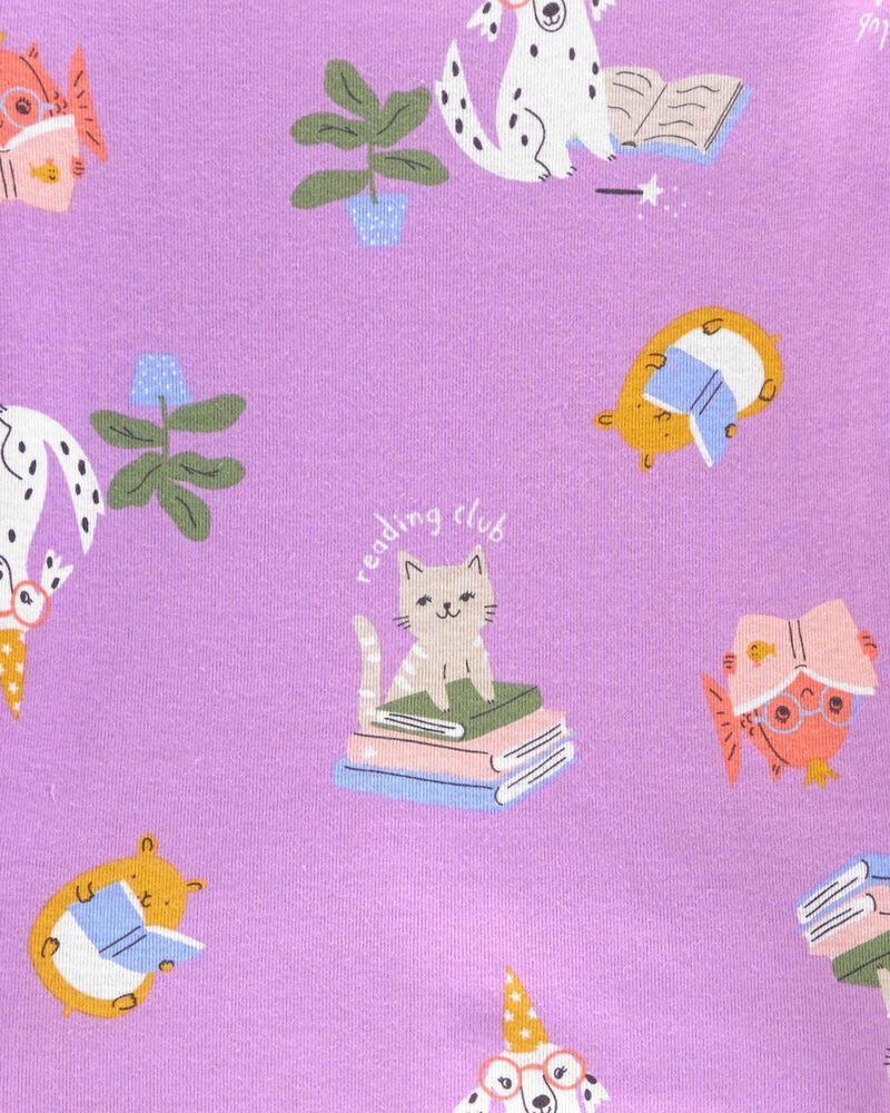 4-Piece Reading 100% Snug Fit Cotton PJs, , hi-res