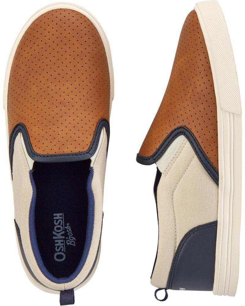 Colourblock Slip-On Shoes, , hi-res