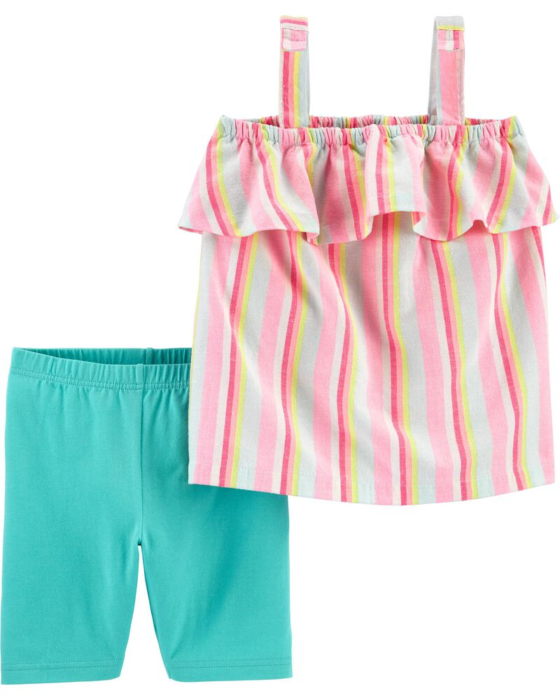 2-Piece Striped Tank & Playground Short Set, , hi-res