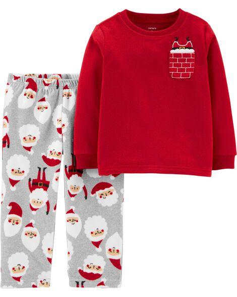 Pyjama 2 pièces Père Noël en molleton