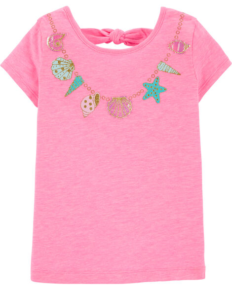 Necklace Bow Back Tee