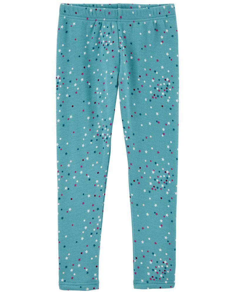 Polka Dot Cozy Fleece-Lined Leggings, , hi-res