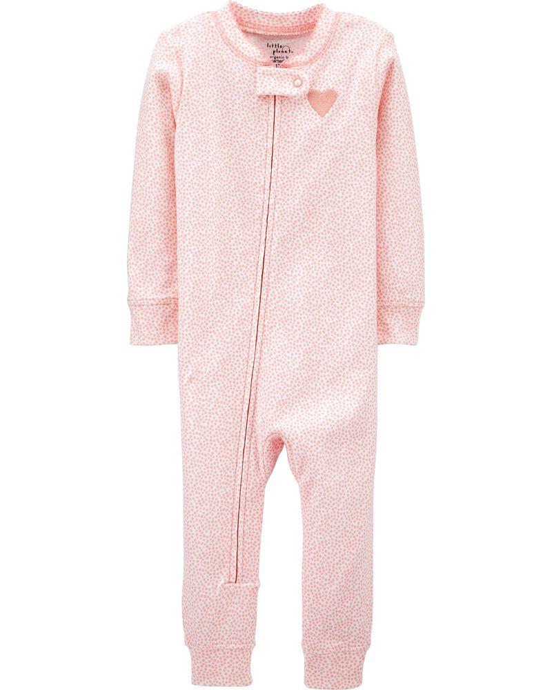 Pyjama 1 pièce ajusté sans pieds en coton certifié biologique, , hi-res