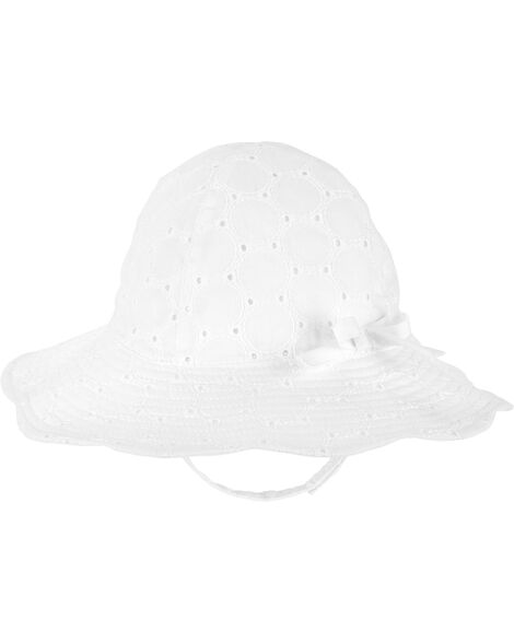 Chapeau de soleil en tissu ajouré
