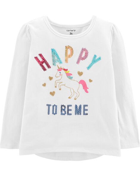 Happy To Be Me Unicorn Tee