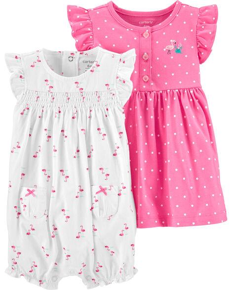 2-Piece Dress & Romper Set