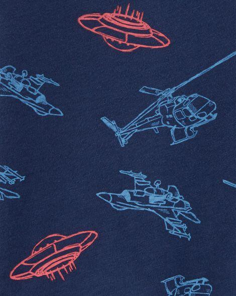 Helicopter & UFO Slub Jersey Tee