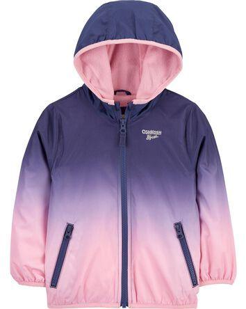 Ombre Fleece-Lined Lightweight Jack...