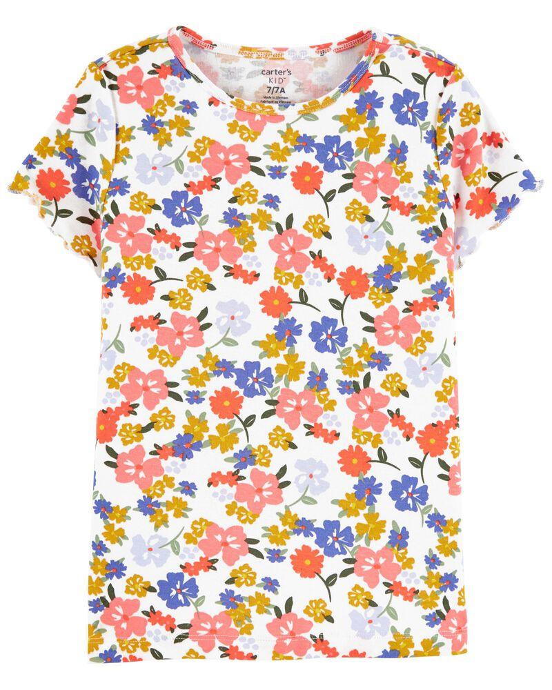 Ensemble 2 pièces t-shirt fleuri et robe sans manches, , hi-res