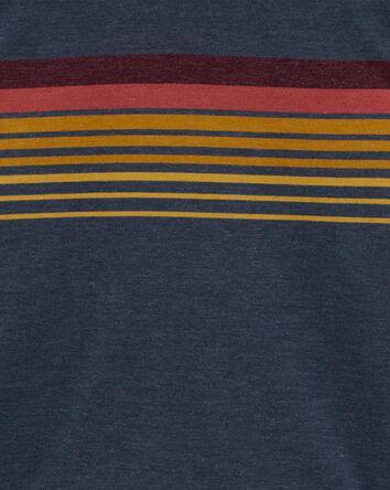 Haut à capuchon en jersey rayé