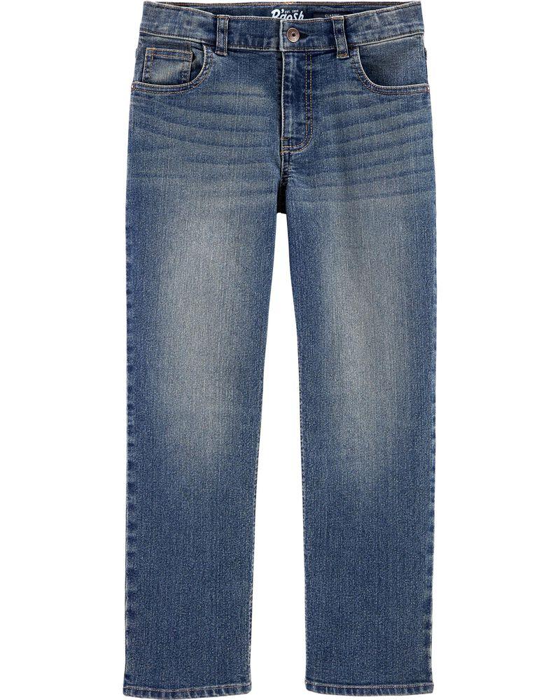 Jeans classique de coupe régulière - délavage moyen usé, , hi-res