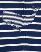 1-Piece Whale 100% Snug Fit Cotton Romper PJs, , hi-res