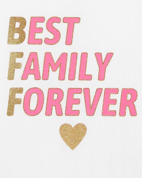 Glitter Best Family Forever Jersey Tee