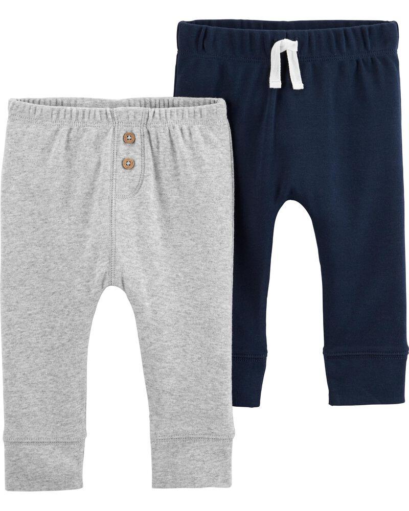 Emballage de 2 pantalons en coton, , hi-res