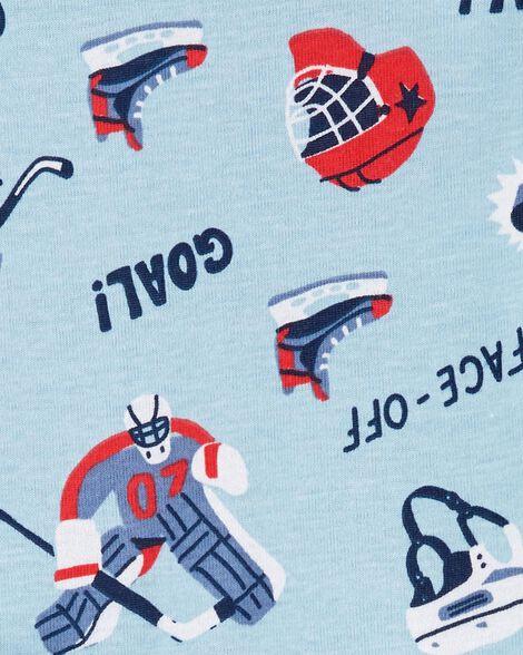Pyjamas 4 pièces en coton ajusté Hockey
