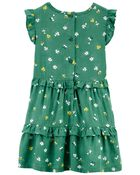 Floral Bee Poplin Dress, , hi-res