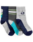 Paquet de 3 paires de chaussettes mi-mollet de soccer, , hi-res