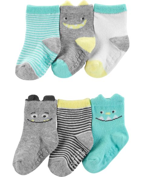 6 paires de chaussettes à motif monstre