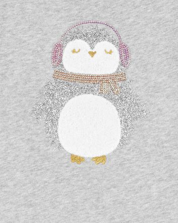 Sparkly Penguin Sweater Top