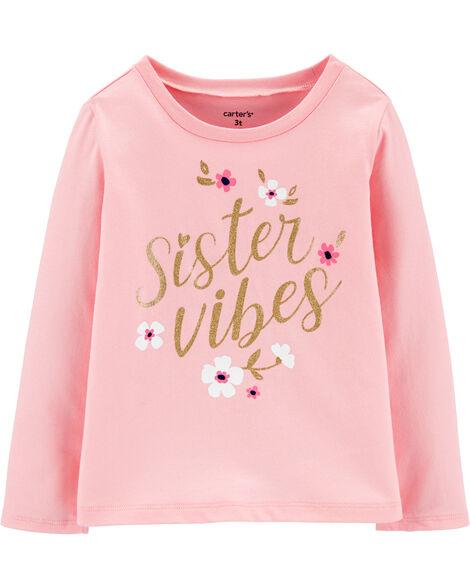 Glitter Sister Vibes Jersey Tee
