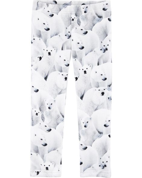 Polar Bear Cozy Fleece Leggings