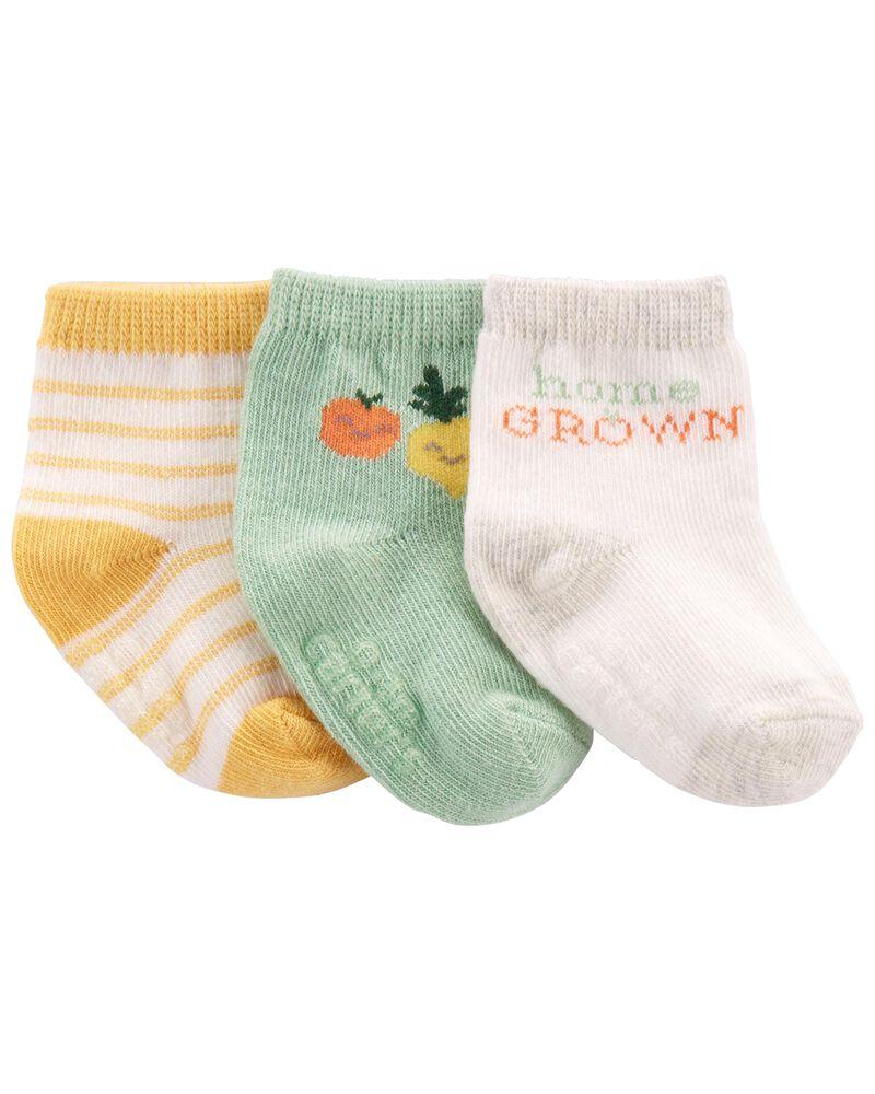3 paires de chaussons légumes, , hi-res