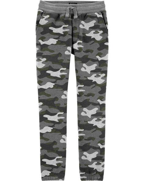 Pantalon de jogging en molleton camouflage