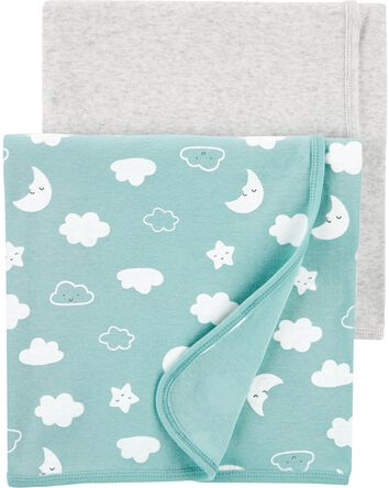 2-Pack Clouds Receiving Blankets