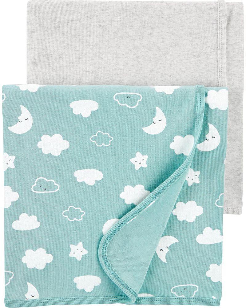2-Pack Clouds Receiving Blankets, , hi-res