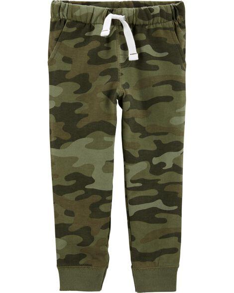 Pantalon de jogging à enfiler en jersey bouclette camouflage