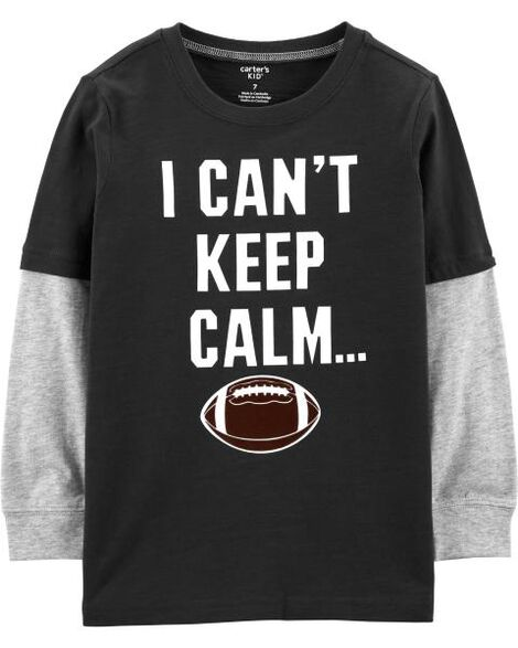 Game Day Football Layered-Look Tee