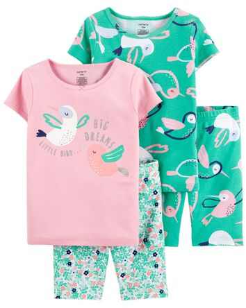 4-Piece Bird 100% Snug Fit Cotton P...