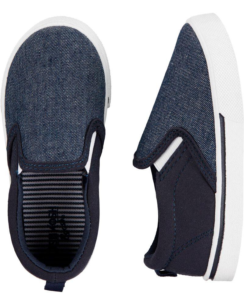 Navy Slip-On Shoes, , hi-res