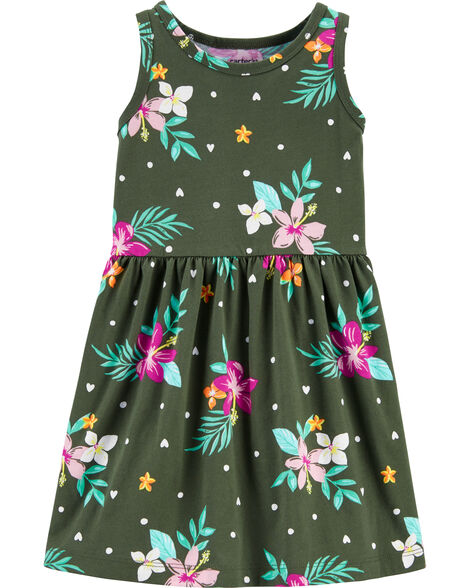 Tropical Tank Jersey Dress