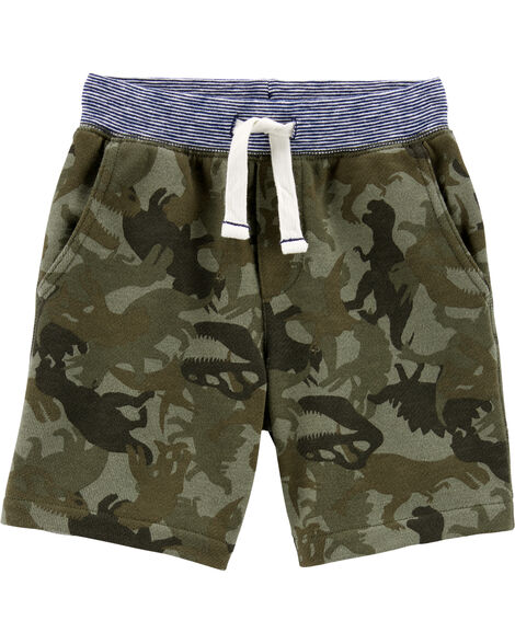 Camo Pull-On French Terry Shorts