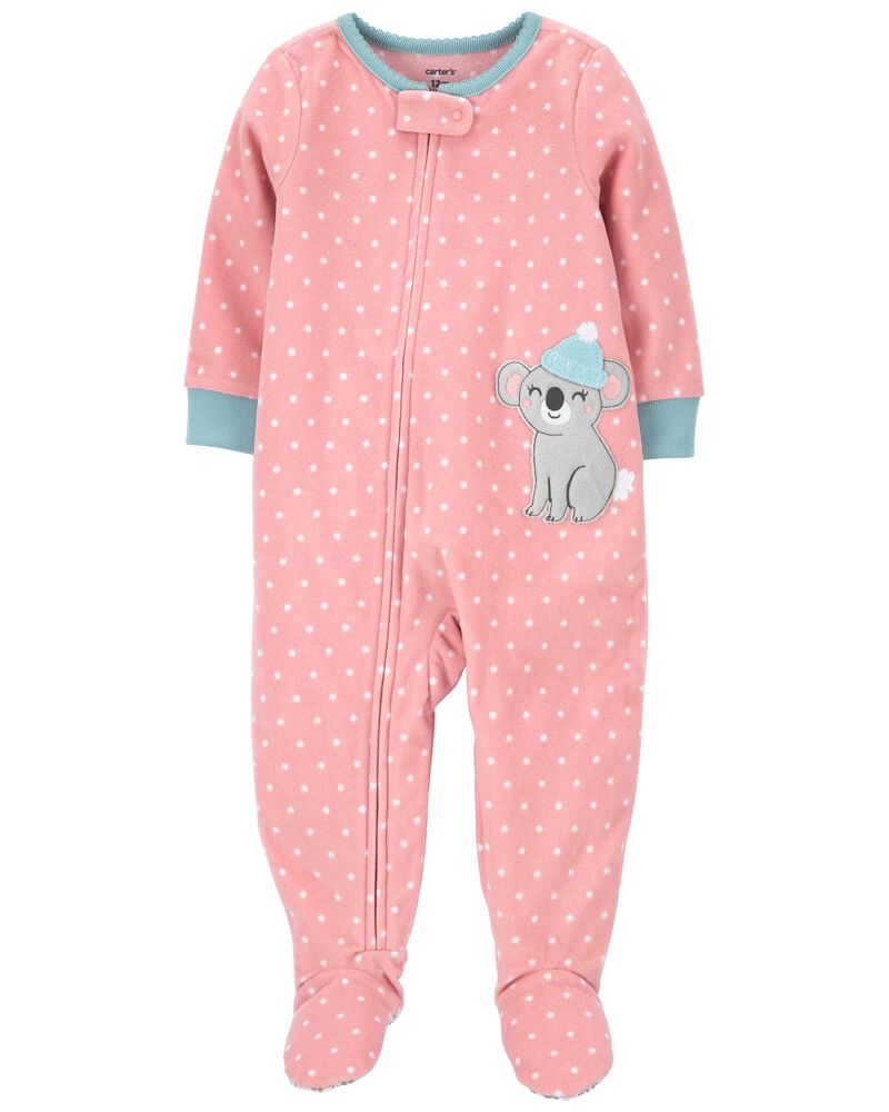 1-Piece Llama Fleece Footie PJs, , hi-res