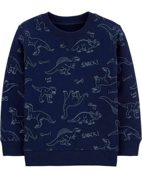 Dinosaur Slub French Terry Sweatshirt