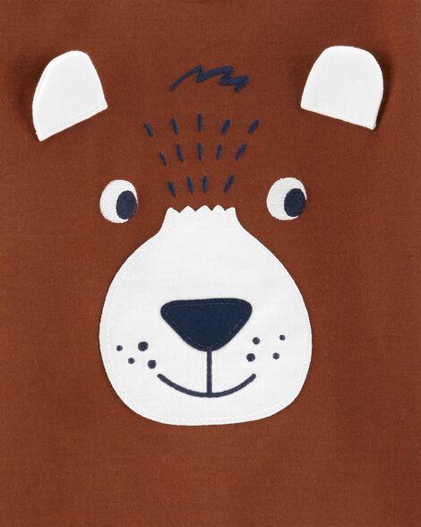 Pyjama 2 pièces en molleton motif ourson