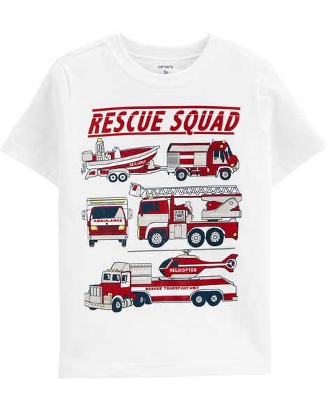 Firetruck Rescue Squad Jersey Tee