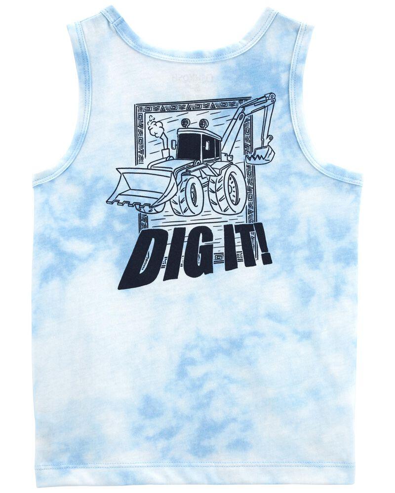 Front-&-Back Tie Dye Tank, , hi-res