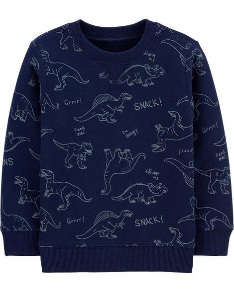 Chandail en jersey bouclette à dinosaure