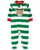 Reindeer Zip-Up Fleece Sleep & Play, , hi-res