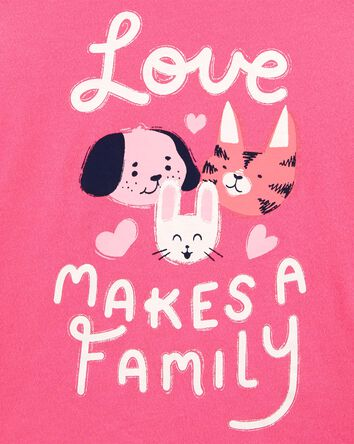 T-shirt en jersey Pet Family