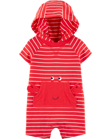 Striped Crab Jersey Romper